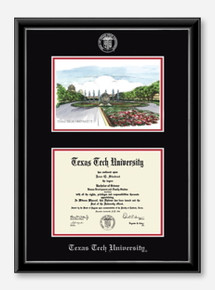 Campus Scene Edition Onexa Silver Diploma Frame C4