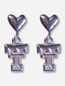 DaynaU Texas Tech Double T Heart Post Earrings