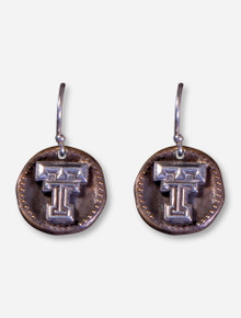 DaynaU Texas Tech Double T Antique Coin Dangle Earrings
