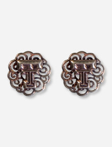 DaynaU Texas Tech Double T Filigree Brass Earrings