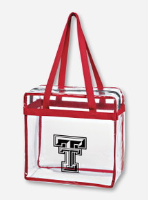 Texas Tech Double T Zippered Stadium Approved Game Day Red Tote