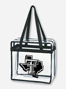 Texas Tech Lone Star Pride Zippered Stadium Approved Game Day Black Tote