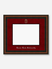 Silver Embossed Mahogany Rope Red Suede Diploma Frame T2