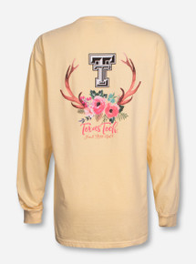 Texas Tech Into the Wild on Butter Longsleeve Shirt