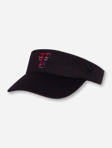 "Top of the World Texas Tech ""Hawkeye"" Black Visor"