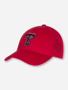 "Top of the World Texas Tech ""Rails"" Red Stretch Fit Cap"