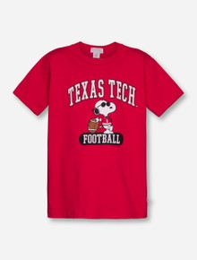 Texas Tech Snoopy YOUTH Red T-Shirt