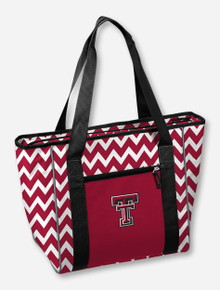 Logo Texas Tech 30 Can Capacity Chevron Red & White Tote Cooler