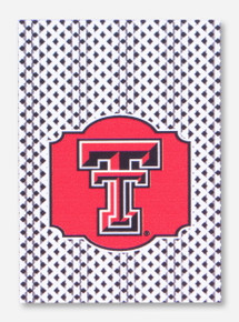 Texas Tech Double T Gingham House Flag