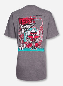 Texas Tech Raider Red Ra Ra on Heather Grey T-Shirt