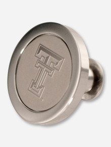 Texas Tech Double T Medallion Silver Lapel Pin