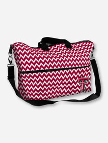 Logo Texas Tech Expandable Chevron Red & White Tote Cooler