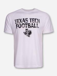 Texas Tech Camo Football on White Performance T-Shirt