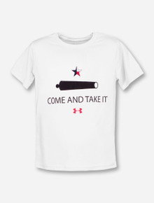 Under Armour Texas Tech Come & Take It YOUTH White T-Shirt