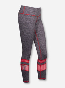 ZooZatz Texas Tech Double T Grey and Mesh Leggings