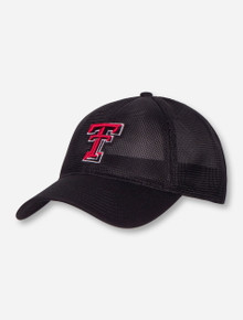 The Game Texas Tech Double T on Black Mesh Snapback Cap