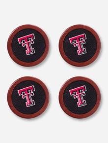 Texas Tech Needle Point Coasters