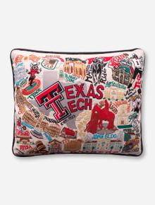 Cat Studio Embroidered Texas Tech Red Raiders Decorative Pillow