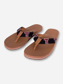 Texas Tech Needle Point Flip Flops