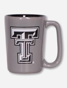 Texas Tech Black and White Double T on Grey Coffee Mug