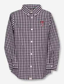 "Garb Texas Tech ""Logan"" YOUTH Plaid Dress Shirt"
