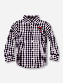 "Garb Texas Tech ""Logan"" INFANT Black Plaid Dress Shirt"
