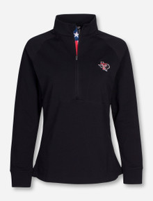 "Texas Tech Lone Star Pride ""Harmony"" on Black Quarter Zip Pullover"