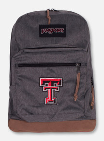 "Jansport Texas Tech Heather Charcoal and Suede ""Right"" Pack"
