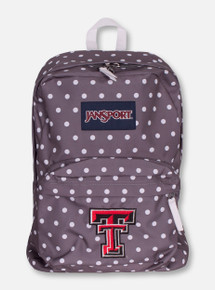"Jansport Texas Tech ""Superbreak"" Polka Dot Back Pack"
