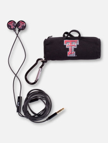"Texas Tech ""Scorch"" Earbuds and Microphone with Carrying Bag"