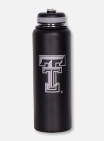 Texas Tech Double T on Matte Black Insulated Bottle