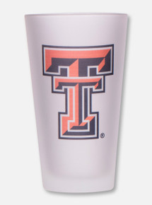 Texas Tech Double T Frosted Pint Glass
