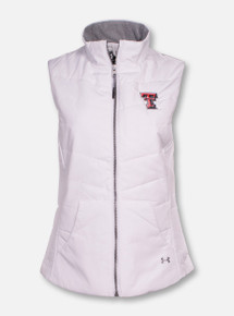 "Under Armour Texas Tech ""Shifter"" White Puffer Vest"