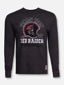 Retro Brand Texas Tech Vintage League Heather Charcoal Long Sleeve Shirt