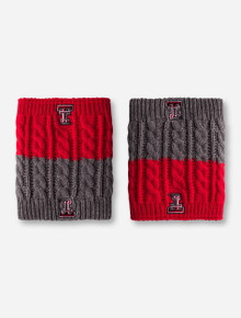 ZooZatz Texas Tech Red and Grey Boot Knit Boot Cuff
