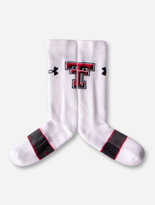 Under Armour Texas Tech White Crew Socks