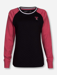 "Antigua Texas Tech ""MVP"" Black and Red Crew Sweatshirt"
