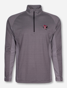 "Antigua Texas Tech ""Promenade"" Grey Quarter Zip Pullover"