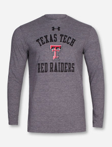 Under Armour Texas Tech Red Raiders Tri-Blend Heather Grey Long Sleeve Shirt