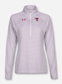Under Armour Texas Tech Women's Striped Quarter Zip Pullover