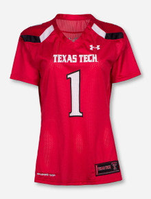 Under Armour Texas Tech Women's #1 Red Jersey