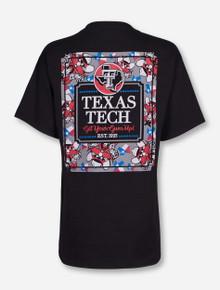 Texas Tech Raider Red Frocket on Black T-Shirt