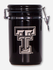 Texas Tech Double T Black Canister