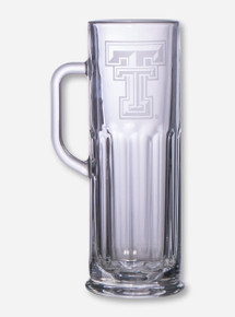 Texas Tech Etched Microbrew Glass Mug