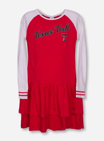 "Garb Texas Tech ""Kacey"" YOUTH Red and White Dress"