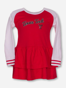 "Garb Texas Tech ""Kacey"" INFANT Red and White Dress and Bloomer Set"