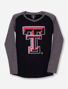 "Garb Texas Tech ""Courtney"" YOUTH Black and Grey Long Sleeve Shirt"