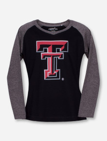 "Garb Texas Tech ""Courtney"" TODDLER Black and Grey Long Sleeve Shirt"