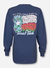 Texas Tech Wildflower on Ice Blue Long Sleeve Shirt