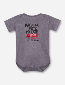 Texas Tech Tailgate Invite INFANT Grey Onesie